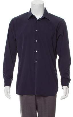 Burberry Pointed Collar Button-Up Shirt