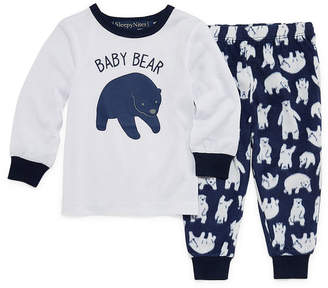 HOLIDAY #FAMJAMS Sleepy Nites Polar Bear 2 Piece Pajama Set -Baby Unisex