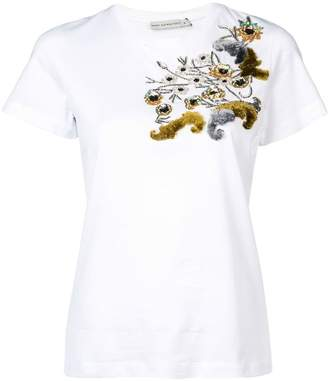 Mary Katrantzou floral sequinned T-shirt