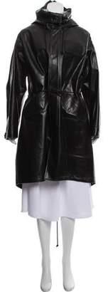 Calvin Klein Leather Oversize Parka