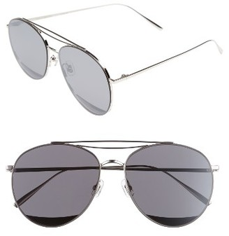 Women's Gentle Monster Odd Odd 61Mm Aviator Sunglasses - Silver $320 thestylecure.com