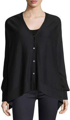 Neiman Marcus Superfine Button-Front Cashmere Cardigan