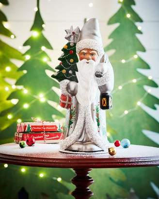 Ino Schaller Silver Santa Statue