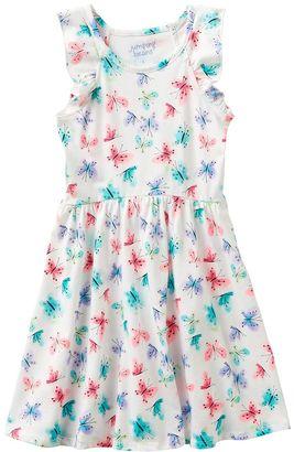 Girls 4-10 Jumping Beans® Flutter Sleeves Print Dress $24 thestylecure.com