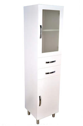 1800 Tall Boy Bathroom Cabinet with Two Door