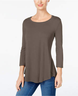 JM Collection Petite Three-Quarter-Sleeve Top, Created for Macy's