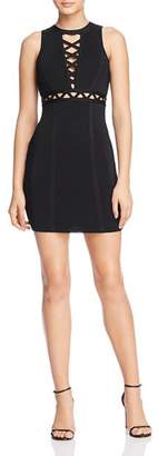 GUESS Mirage Cutout Lace-Up Body-Con Dress