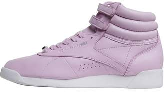 bb74ba1419d Reebok Classics Womens Freestyle Hi Muted Trainers Moonglow White