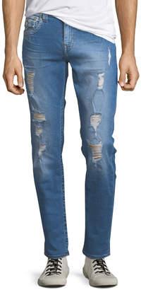 True Religion Men's Distressed Skinny Jeans