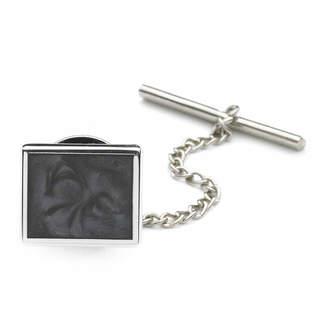 Asstd National Brand Tie Tack with Gray Swirl Enamel Center