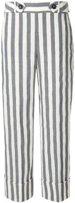 Incotex striped cropped trousers
