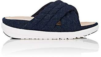 FitFlop LIMITED EDITION Women's Quilted Denim Slide Sandals - Navy