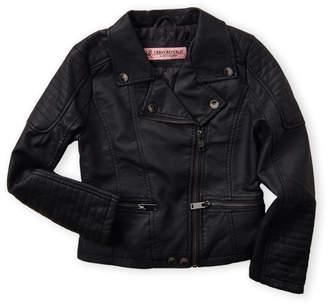 Urban Republic Girls 4-6x) Back Ruffle Moto Jacket