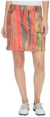 Parfait Jamie Sadock Skinnylicious Print Side Zip and Button 18 in. Skort Women's Skort