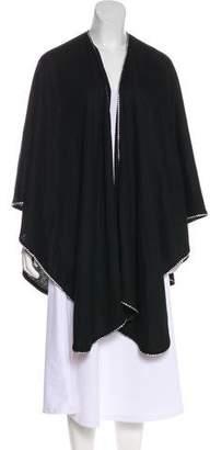 Adrienne Landau Wool Embellished Poncho