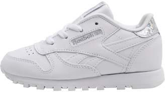best service 4a6c5 b80e8 Reebok Classics Infant Classic Leather Pas Trainers White Silver Metallic