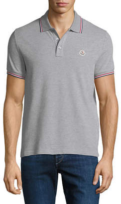 Moncler Men's Striped-Trim Polo Shirt
