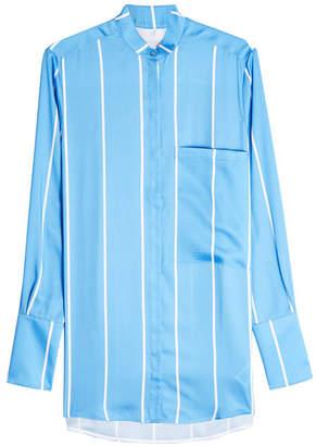 Victoria Beckham Victoria One Pocket Fluid Shirt