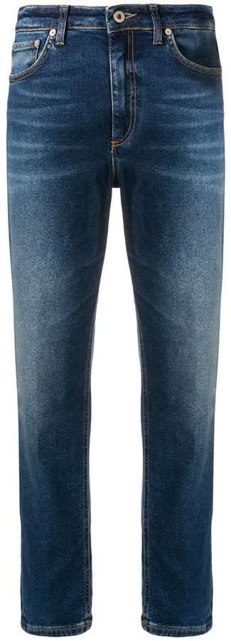 slim high-waisted jeans