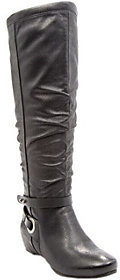 BareTraps Wide Calf Tall Shaft Wedge Boots - Siobhan II $99 thestylecure.com