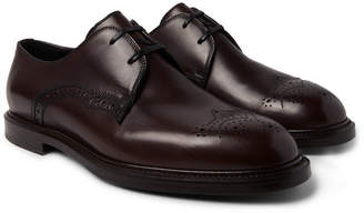 Dolce & Gabbana Michelangelo Leather Brogues - Dark brown