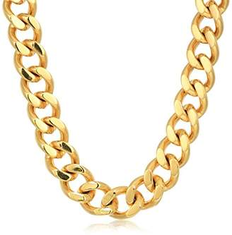 Crucible Jewelry Mens IP Stainless Steel Heavy Curb Link Chain Necklace