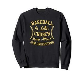 Church's Funny Baseball Is Like Sweatshirt