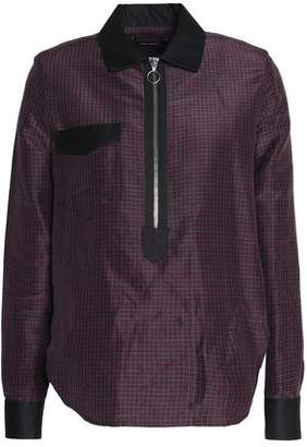 Isabel Marant Poplin-trimmed Checked Ramie And Silk-blend Shirt
