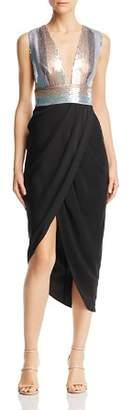 Mila Louise SAU LEE Sequined-Bodice Dress