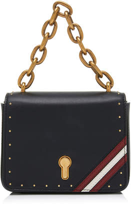Bally Cathy Studded Leather Shoulder Bag