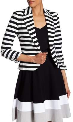 Amanda & Chelsea Striped Peak Blazer $180 thestylecure.com
