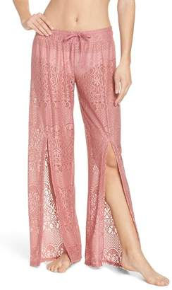 Isabella Collection rose About Lace Cover-Up Pants