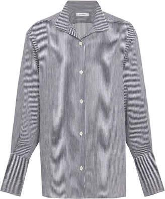 Frame Striped Linen-Blend Shirt