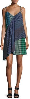 Opening Ceremony Foulard Printed Silk Wrap Dress, Green/Blue