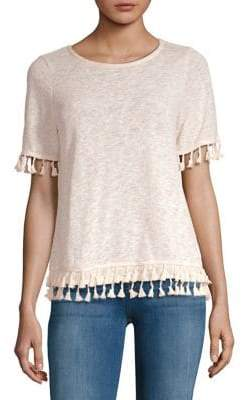 Lord & Taylor Tasseled Short-Sleeve Top