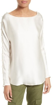 Women's Tracy Reese Silk Charmeuse Top $198 thestylecure.com
