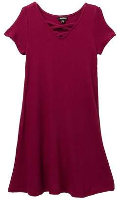 Zunie Solid Novelty Thermal X-Front Dress (Big Girls)
