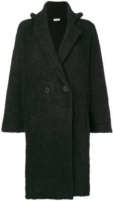 Twin-Set double breasted shearling coat