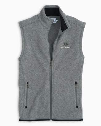 Southern Tide Gameday Sweater Fleece Vest - University of Georgia