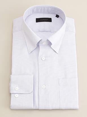 Durban (ダーバン) - ダーバン パープル ミニチェック柄 ドレスシャツ