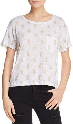 Rails Billie Metallic Pineapple Print Tee