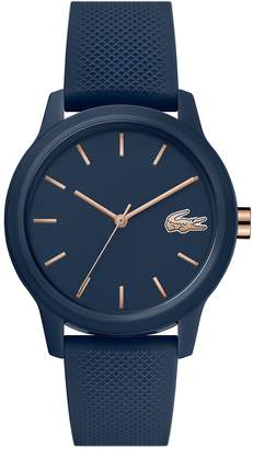 Lacoste Ladies Lacoste.12.12 Watch with Navy Silicone Petit Pique Strap