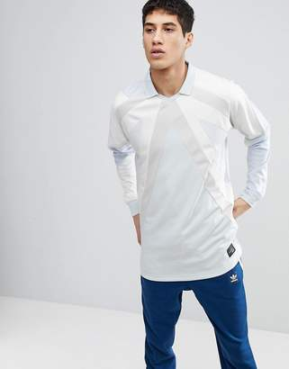 adidas EQT 18 Long Sleeve T-Shirt In Blue CW4924