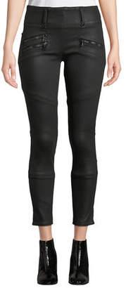 Hudson High-Rise Moto Skinny Ankle Jeans