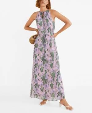 MANGO Ribbons Long Dress