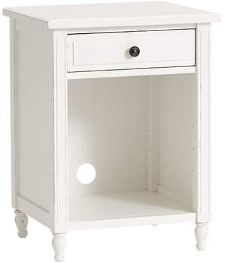 Pottery Barn Teen Genevieve Bedside Table, Distressed Simply White