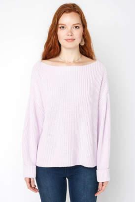 French Connection Lavender Boatneck Pullover