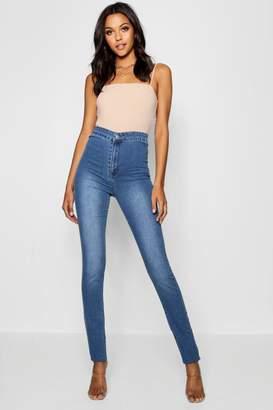 boohoo Tall Lara 40 Leg High Waisted Jeans