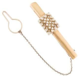 18K Diamond Tie Clip