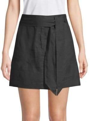 Saks Fifth Avenue Tie-Waist Linen Skirt